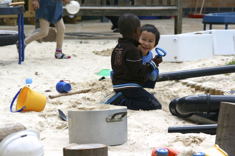 Child in sandpit